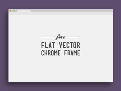 400x300 Flat Vector Google Chrome Frame Free Psd Psdexplorer