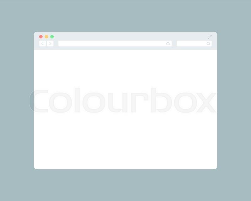 800x640 Flat Blank Browser Window. Grey Internet Browser Stock Vector