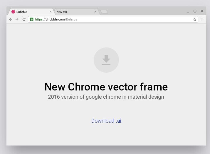 715x526 Free Material Design Style Chrome Browser Vector Frame