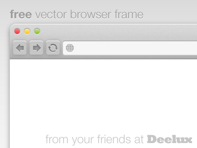 400x300 Free Vector Browser Frame By Andrew Liebchen