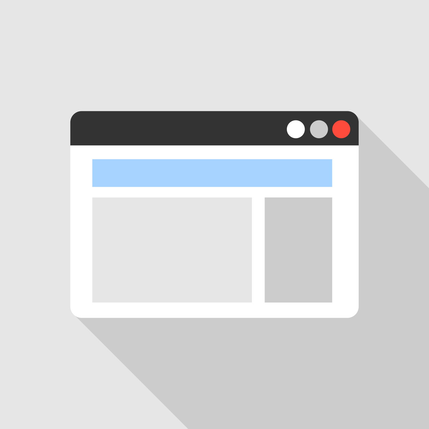 1500x1500 Internet Browser. Vector Flat Icon