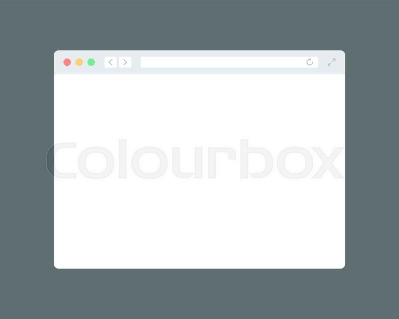800x640 Simple Modern Browser Window. Flat Mockup Template Stock Vector
