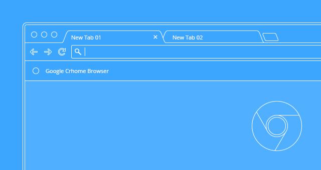 640x340 Vector Browser Outline Presentation Psd Web Elements Pixeden