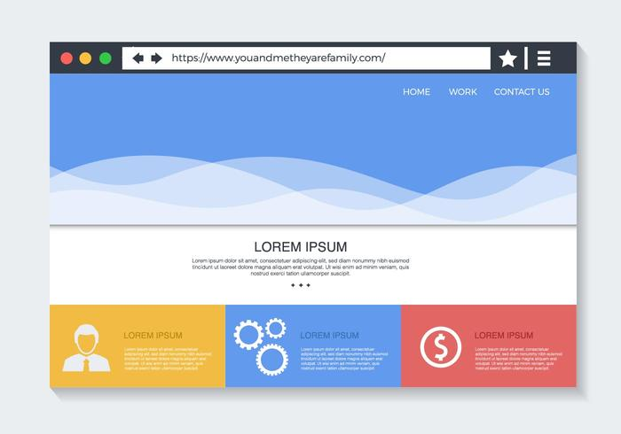 700x490 Web Browser With Website Vector