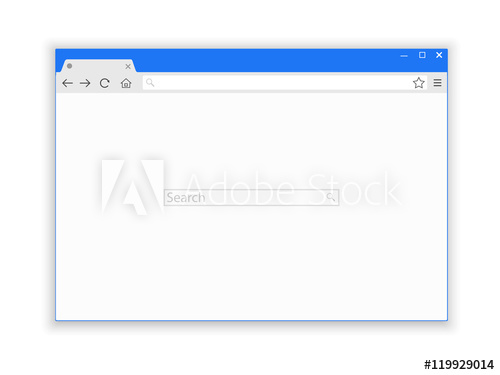 500x375 Browser Window Vector Illustration. Browser Or Web Browser In Flat