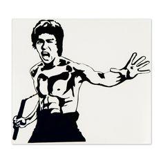 236x236 Bruce Lee Vector Portrait Stencils Vector Portrait