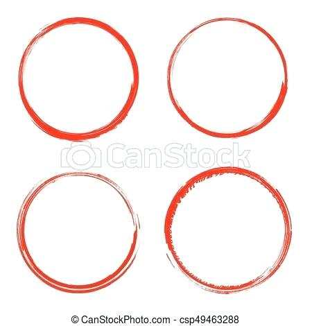 450x470 Brush Circle Vector Set Grunge Circle Brush Stock Vector