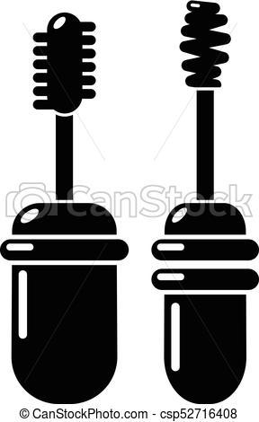 288x470 Mascara Brush Icon, Simple Black Style. Mascara Brush Icon. Simple