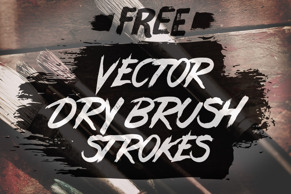 1000x666 24 Free Vector Dry Brush Stroke Illustrator Brushes