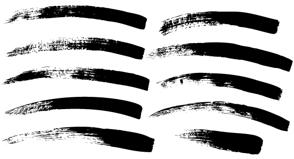 600x325 Free Paint Brush Strokes Vector 123freevectors