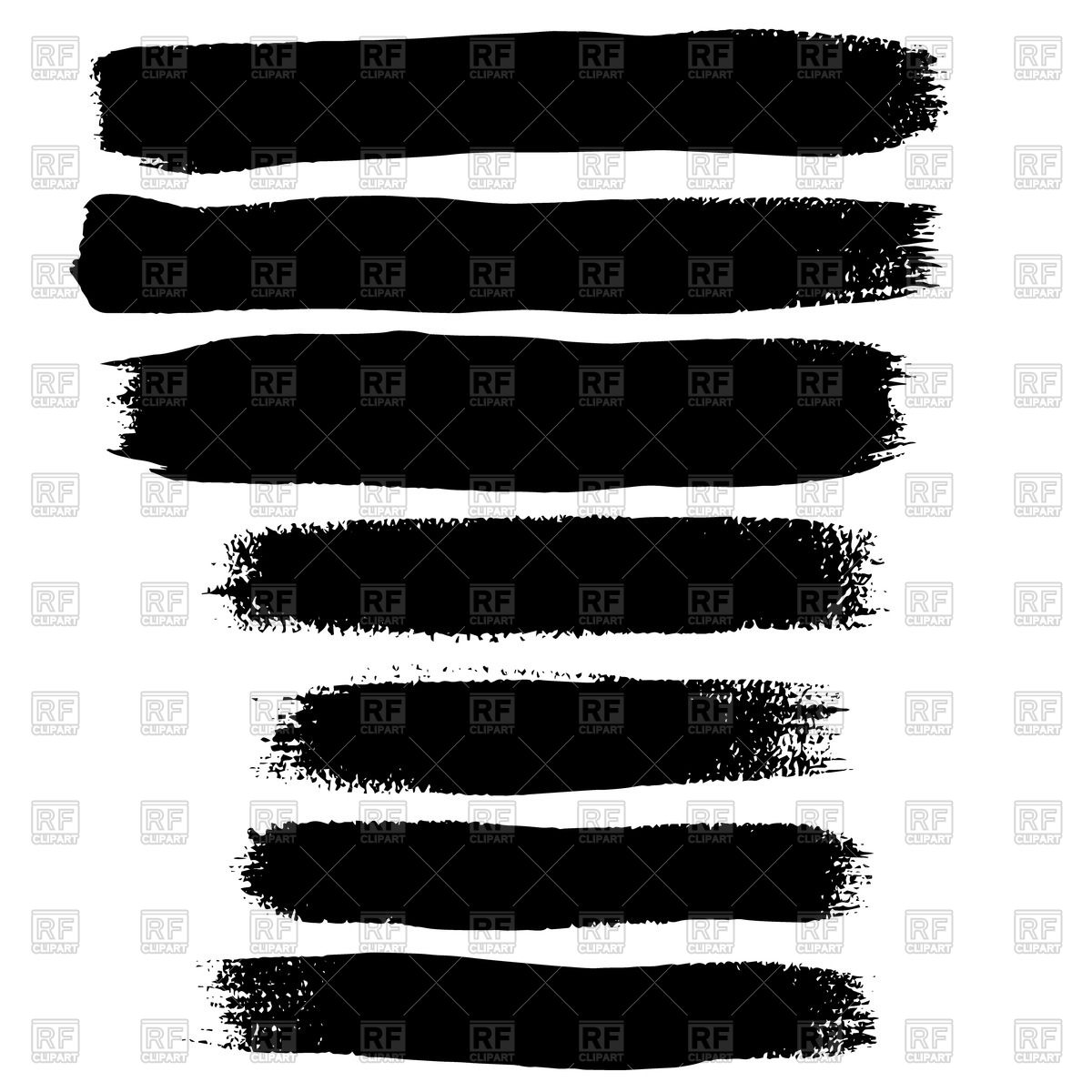 1200x1200 Black Brushstroke Vector Image Vector Artwork Of Design Elements