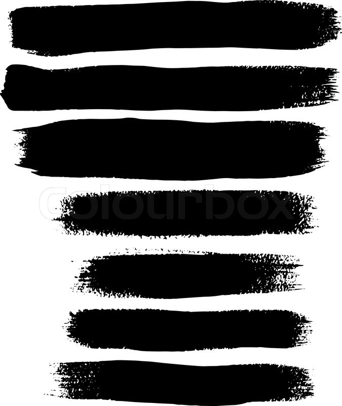 675x800 Black Ink Vector Brush Strokes Stock Vector Colourbox