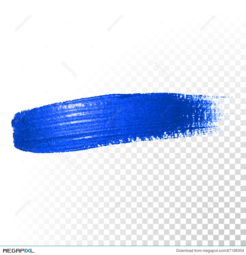800x830 Deep Blue Watercolor Brush Abstract Stroke. Vector Oil Paint Smear
