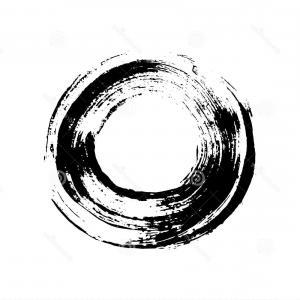 300x300 Stock Illustration Black White Grunge Circle Like Brush Stroke