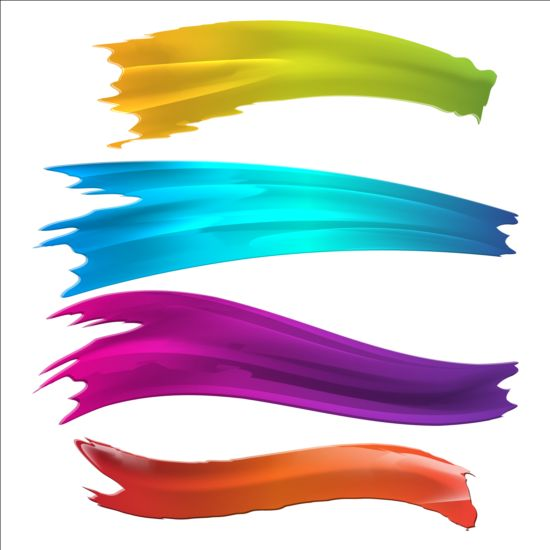 550x550 Paints Brush Background Vector 05 Free Download