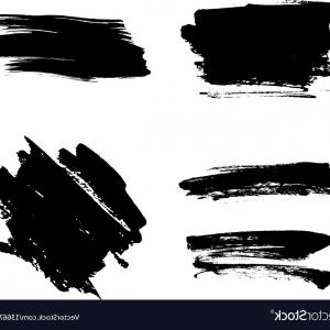 300x300 Set Of Black Paint Ink Brush Strokes Brushes Vector Arenawp