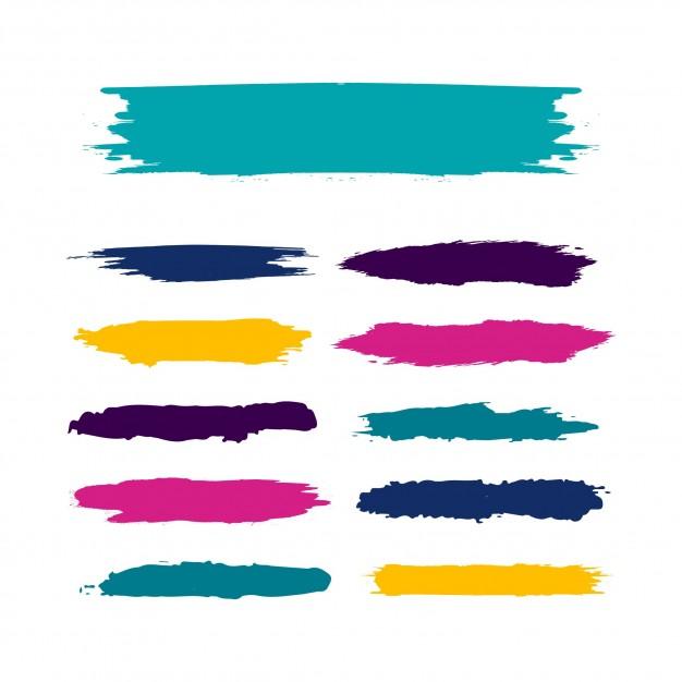 626x626 Watercolor Brush Set Vector Free Download