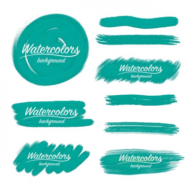 626x626 Watercolor Brush Strokes Design Vector Free Download