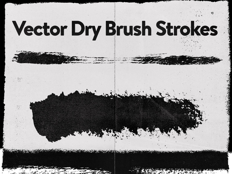 800x600 Dry Brushes Vector [Freebie] By Kirk! Wallace