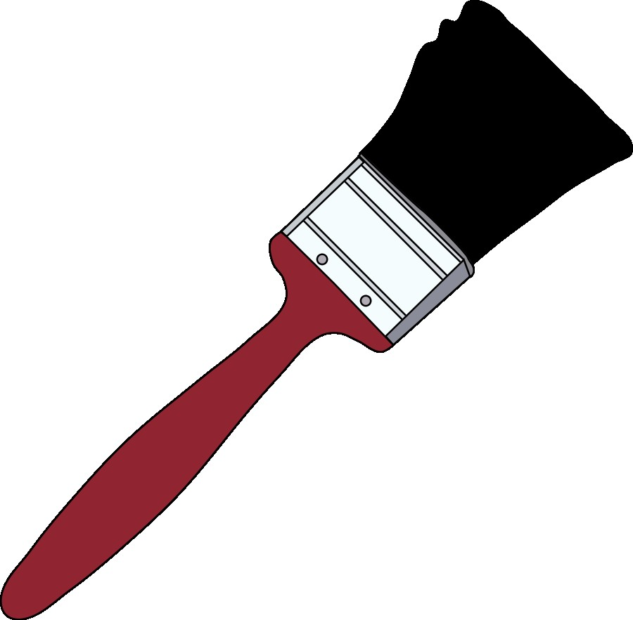 900x882 Paint Brush Clip Art Png Tom Red Paintbrush 1 Vector Clipart