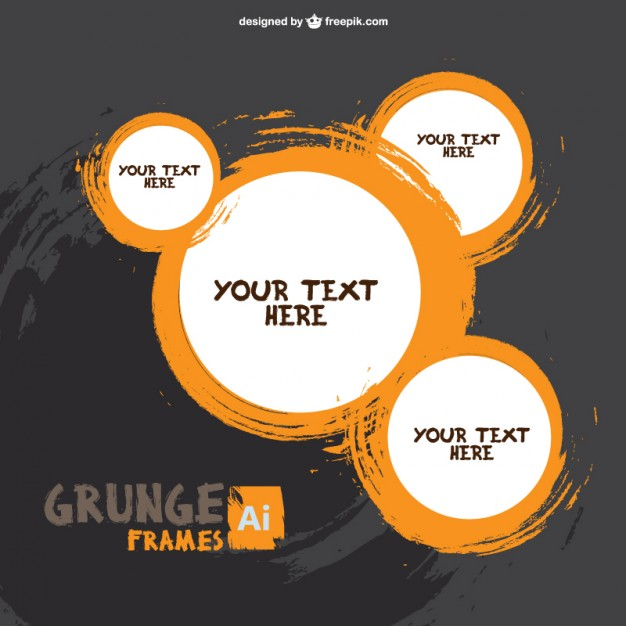 626x626 Brush Stroke Round Frames Vector Free Download