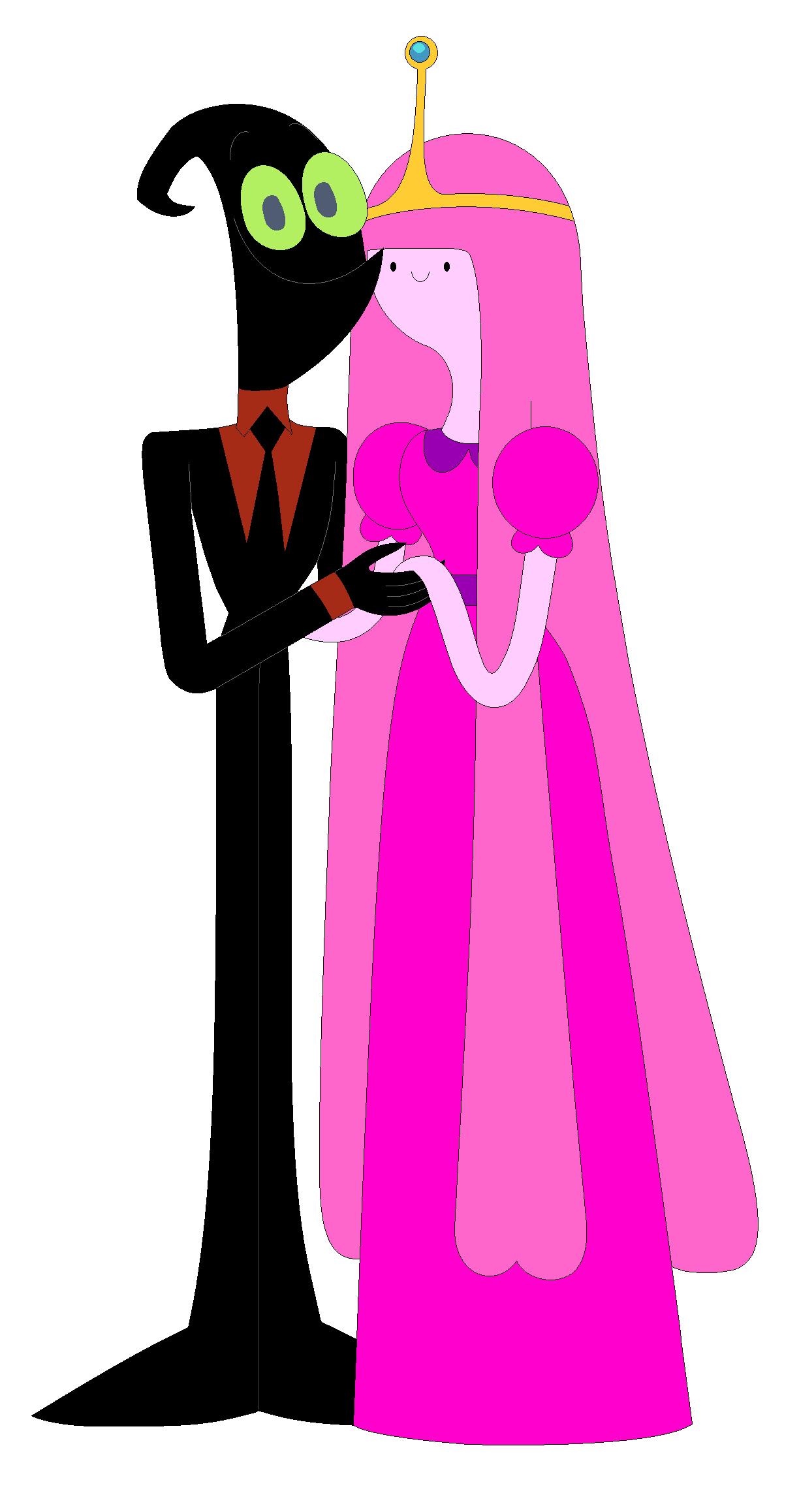 1224x2316 Nergal And Princess Bubblegum Vector Holding Hands Love Nergal