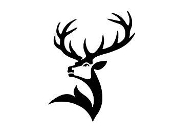 340x270 Deer Head Silhouette Etsy