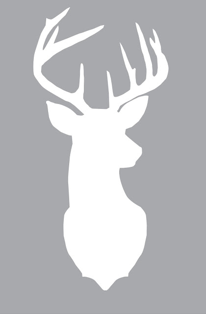 420x640 Free Vector Svg Graphic Deer Head Silhouette