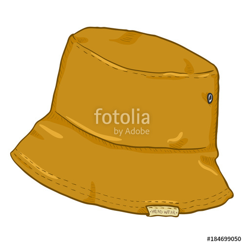 500x500 Vector Single Cartoon Bucket Hat. Urban Street Style. Stock Image