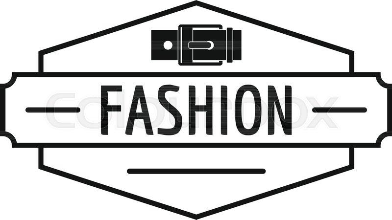 800x450 Buckle Logo. Simple Illustration Of Buckle Vector Logo For Web