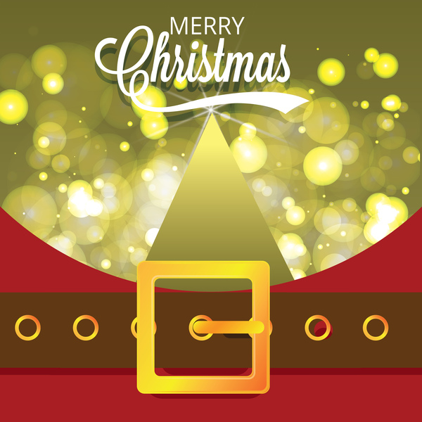 600x600 Christmas Greeting Card With Belt Buckle Vector 09 Free Download