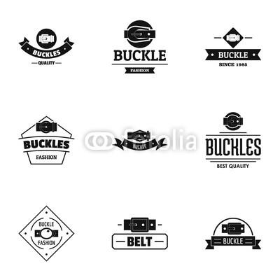 400x400 Fashionable Buckle Logo Set. Simple Set Of 9 Fashionable Buckle