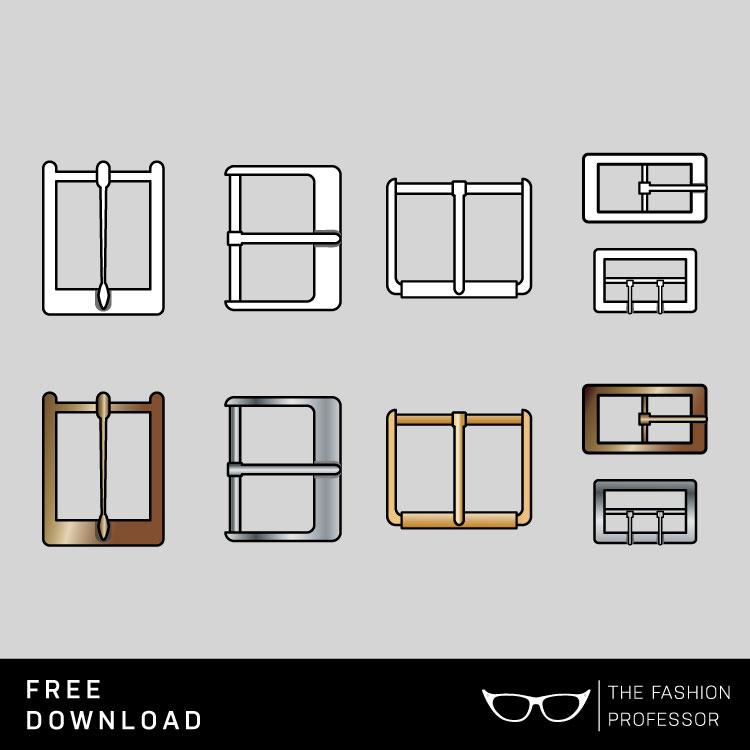 750x750 Free Vector Download Metal Buckles The Fashion Professor