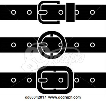 350x333 Vector Clipart Buckle Belt Black Symbols Illustration Clipart