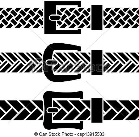 450x446 Vector Buckle Braided Belt Black Symbols.