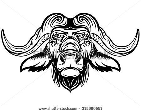 Buffalo Head Vector