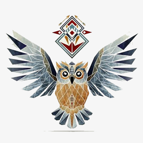 500x500 Buho De Lattice Vector Owl Vector Cristalizar Owl Totem Png Y