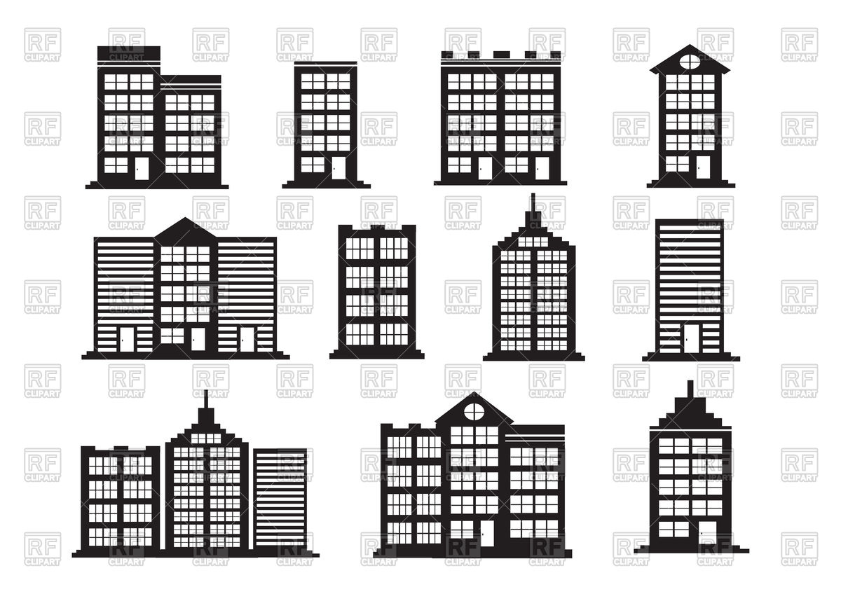 1200x848 Building Icons Vector Image Vector Artwork Of Signs, Symbols