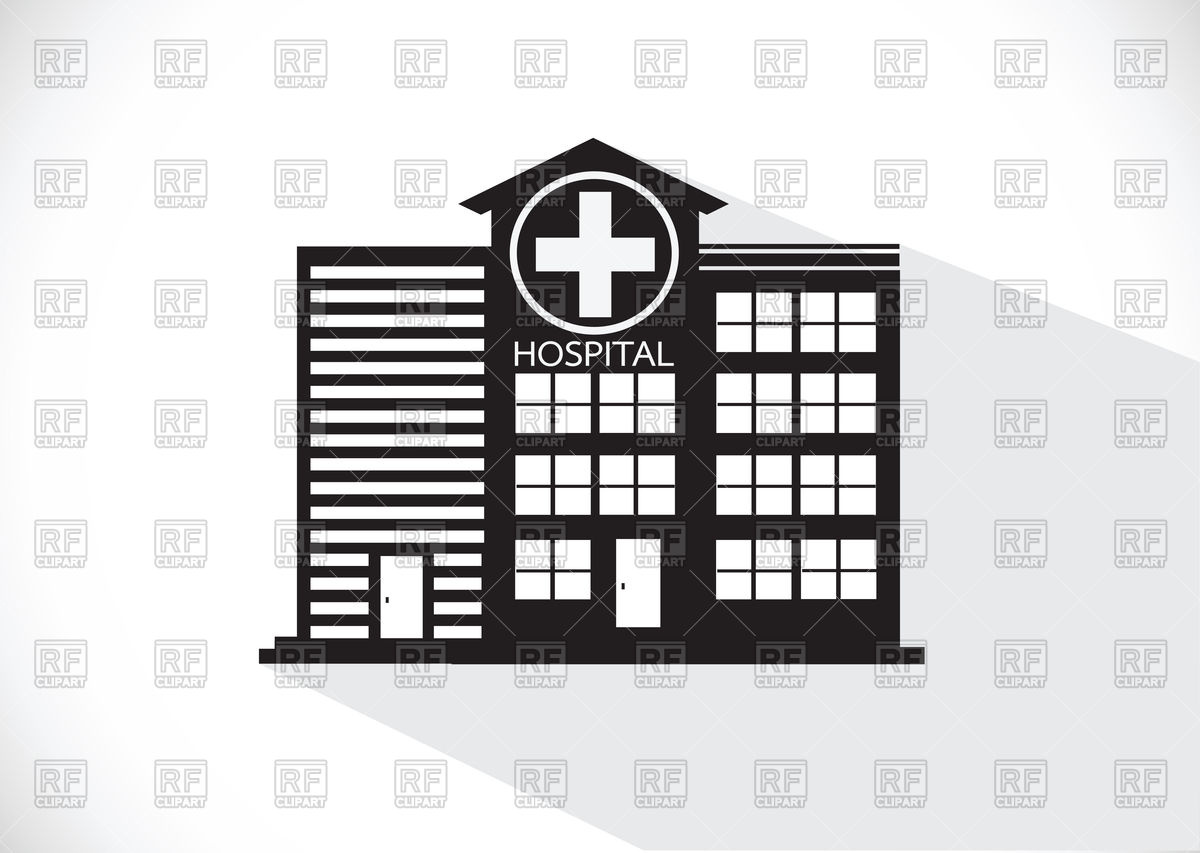 1200x853 Hospital Building Icon Vector Image Vector Artwork Of Signs