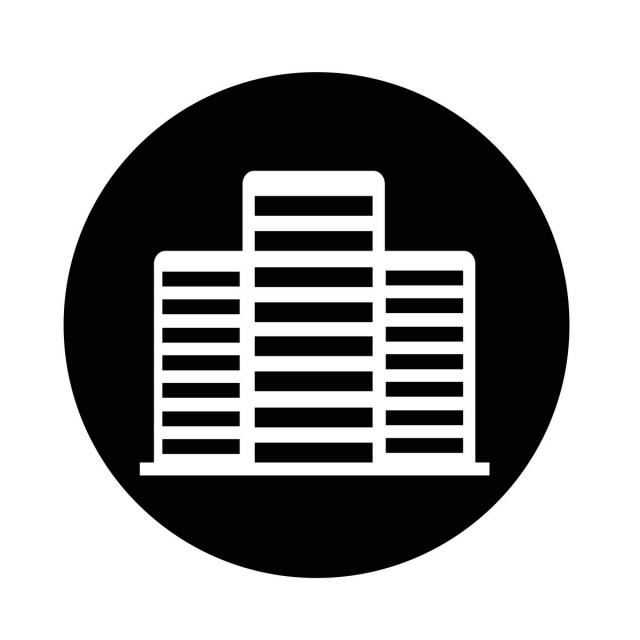 640x640 Office Building Icon, Icon, Vector, Business Png And Vector For