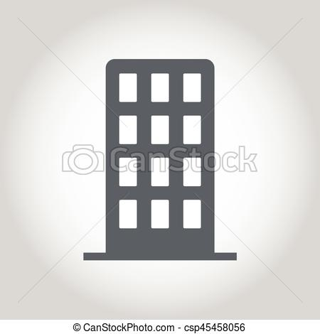 450x470 Office Building Icon Vector.