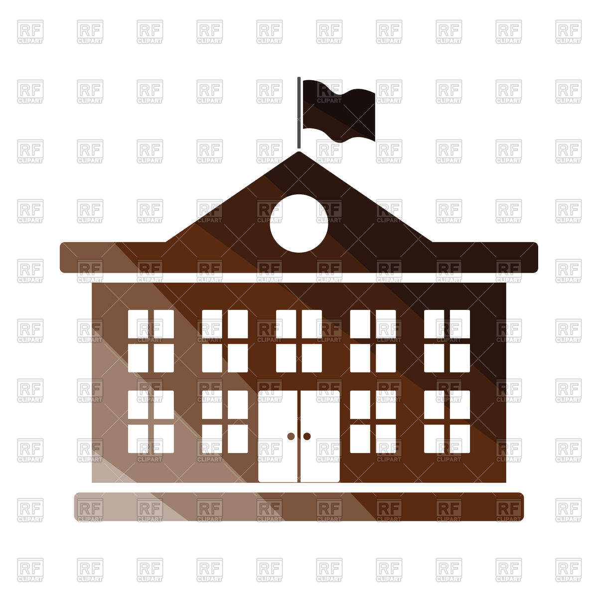 1200x1200 School Building Icon Vector Image Vector Artwork Of Signs