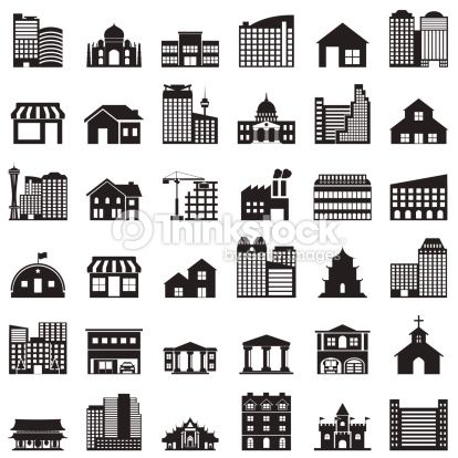 414x414 Vector Art Building Icons Set Icons Icon Set