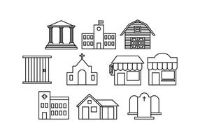 286x200 Building Icon Free Vector Art