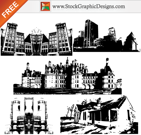 600x575 Buildings Free Vector Graphics Download Free Vector Art Free