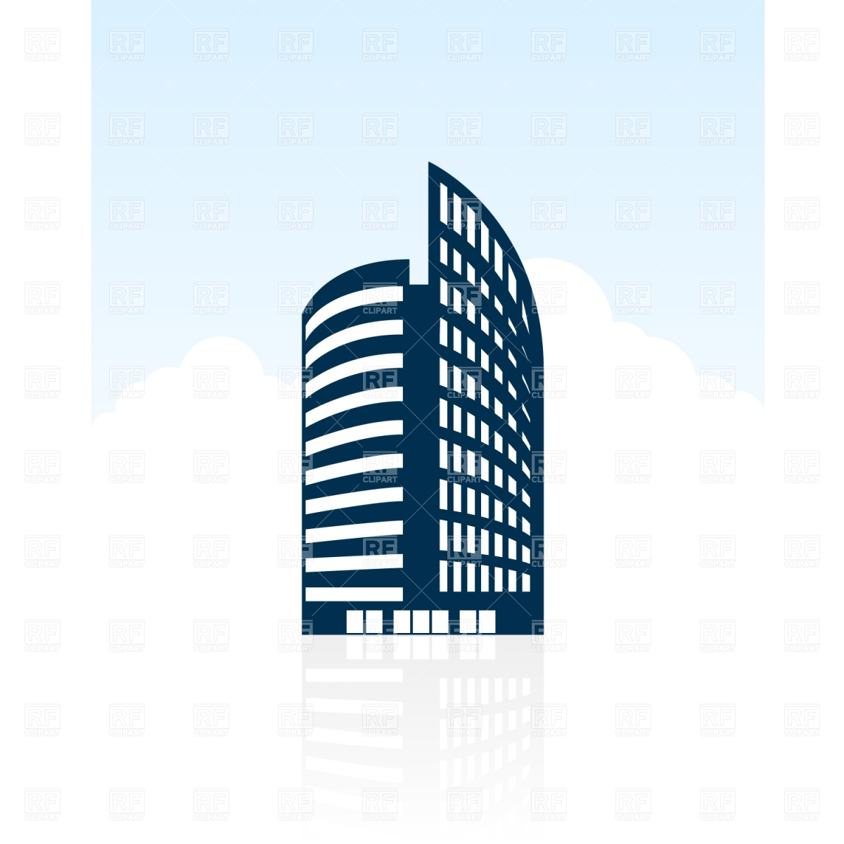 1200x1200 Modern Building Silhouette Vector Image Vector Artwork Of