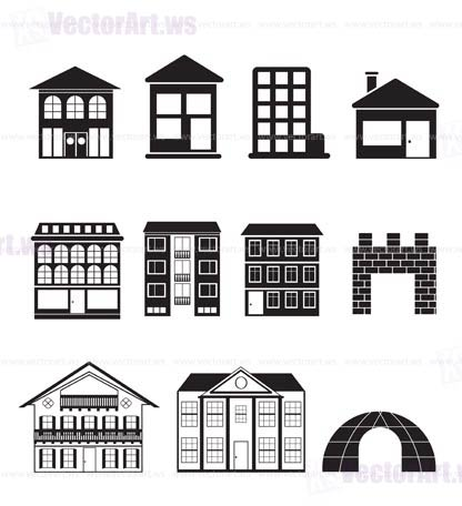 416x456 Different Kinds Of Houses And Buildings