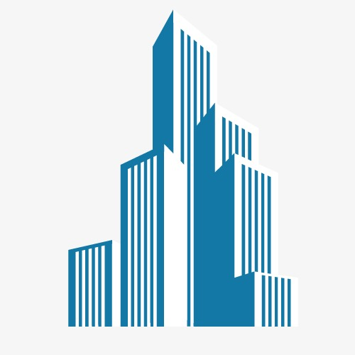 500x500 Building Vector, Simple, Blue Png And Vector For Free Download