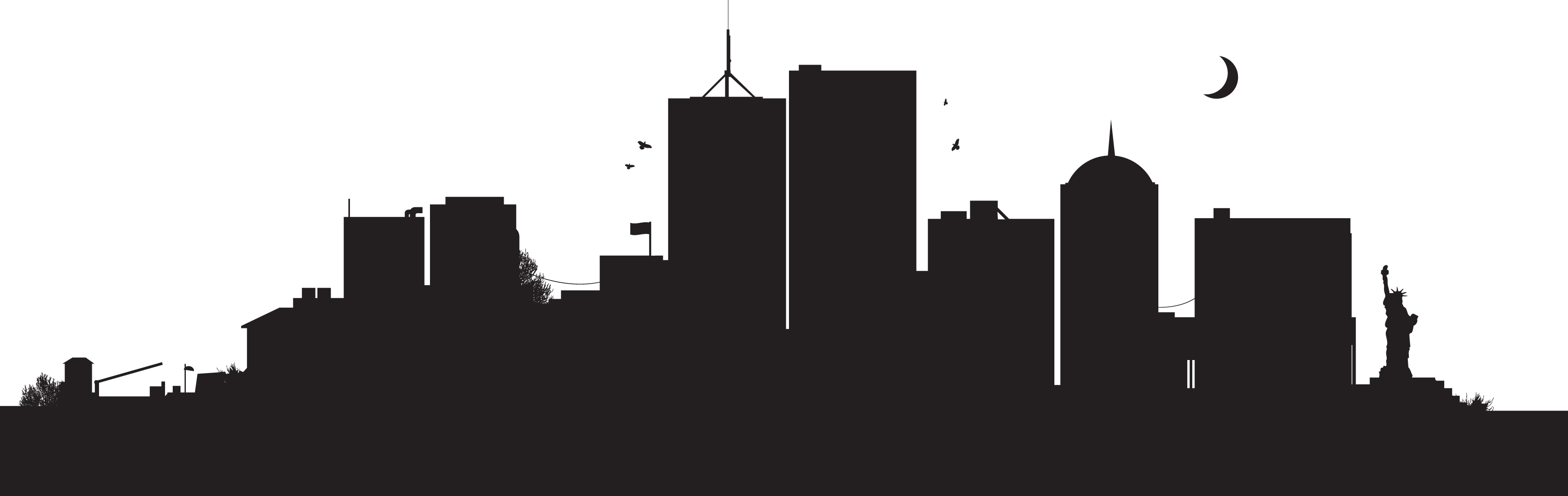 3468x1098 Building Vector Png 1 Png Image