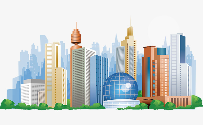 650x400 Commercial Office Buildings Vector Spherical, Vector Architecture